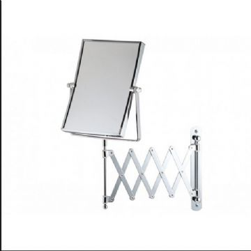 Bathroom Origins Extendable Square 5x Magnifying Wall Mirror - 055751